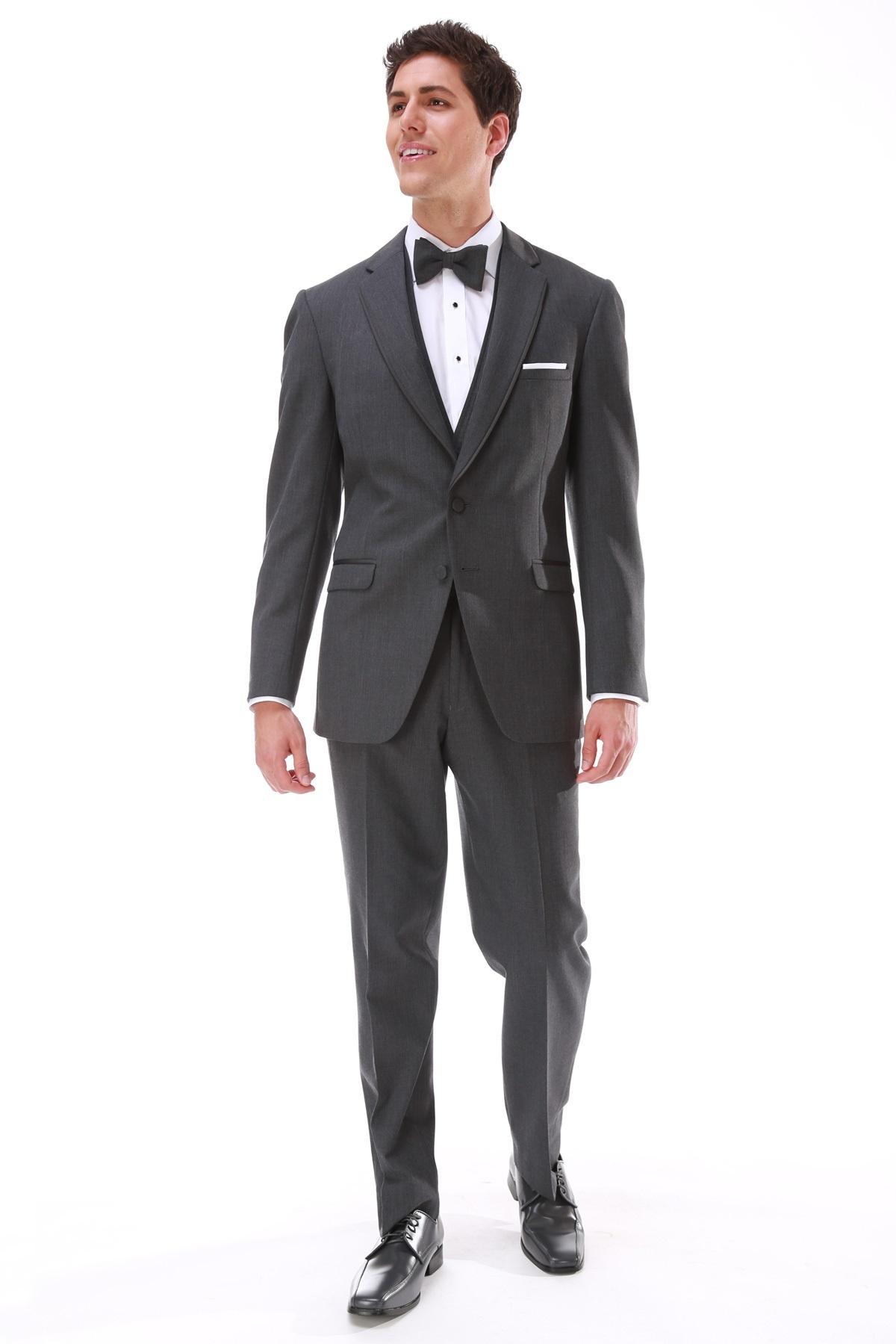 MFWtux.com - Grey Steel Allure Men Wedding Suit