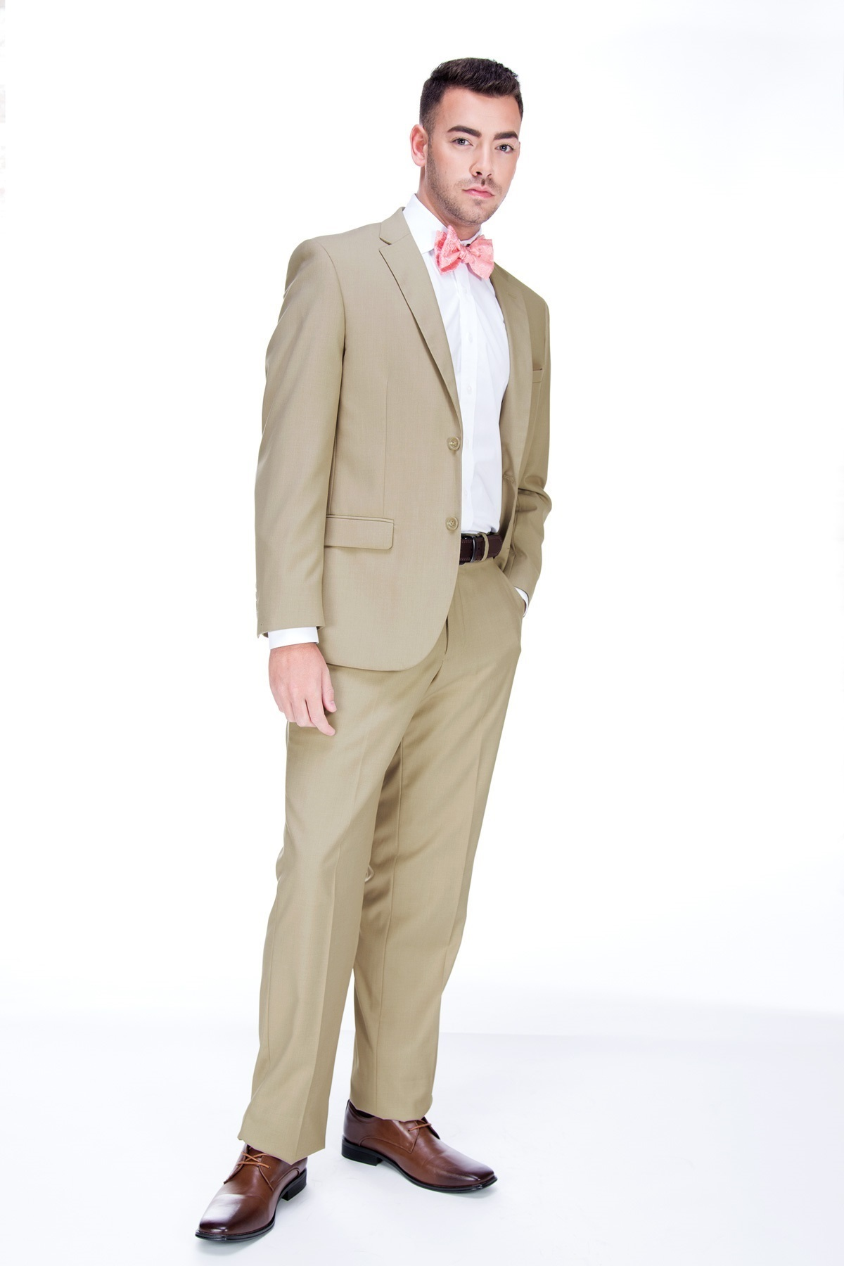 MFWtux.com - Tan Wedding Suit