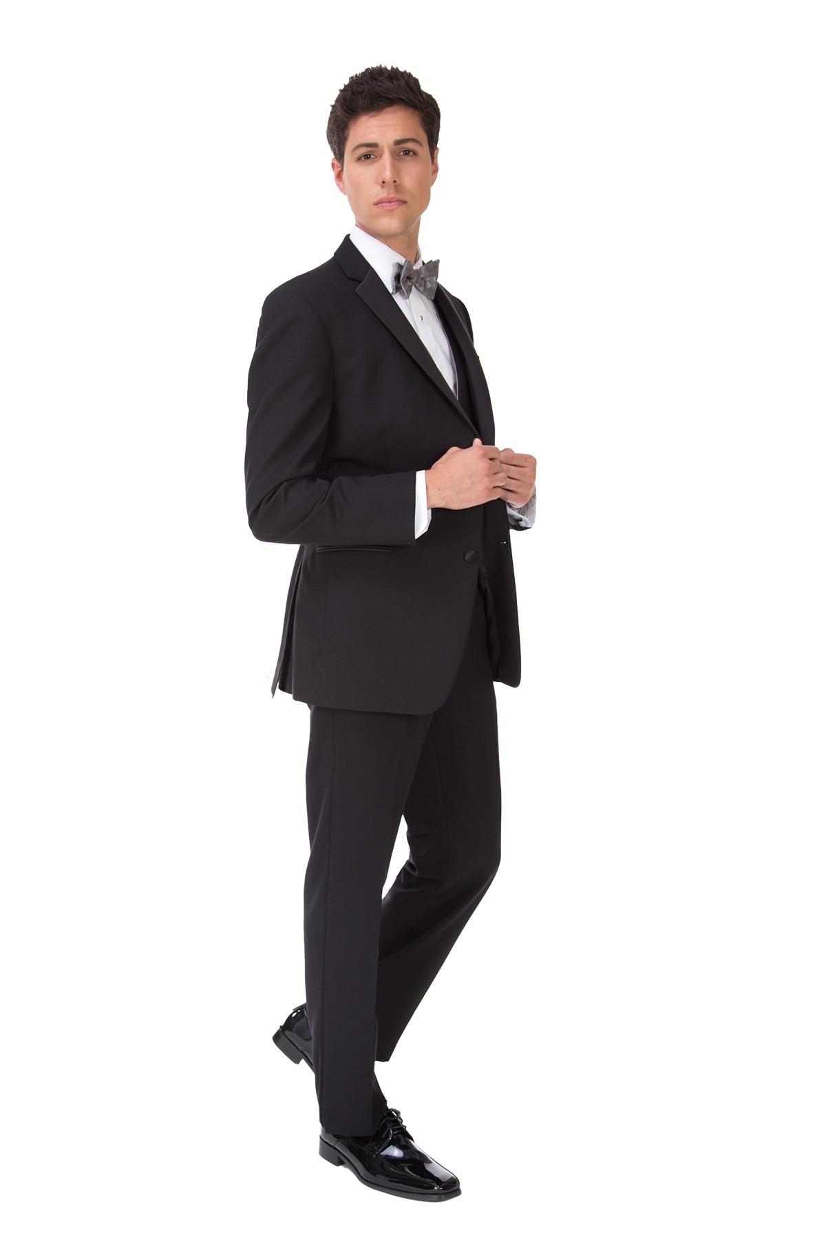 MFWtux.com - Black Ike Behar Parker Tuxedo