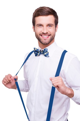 Suspenders, Royal Blue, Royal