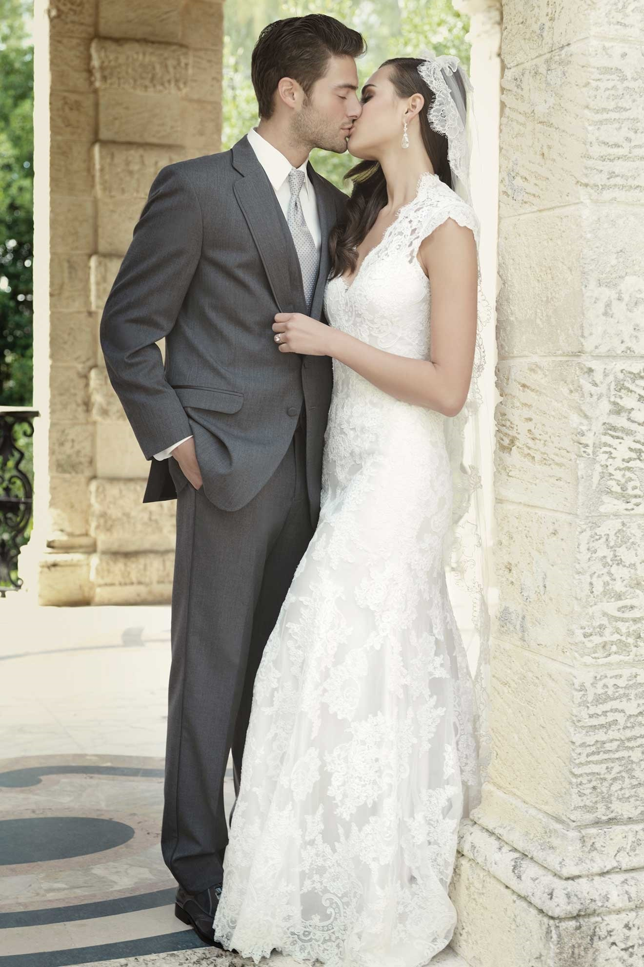 MFWtux.com - Grey Steel Allure Men Wedding Suit