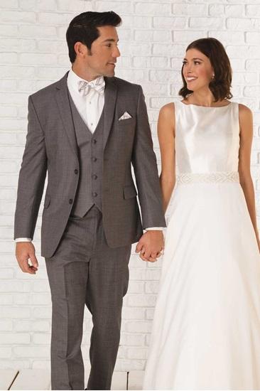 Grey Wedding Suit Moda