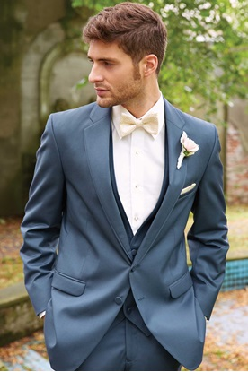 Slate Blue Wedding Suit Allure