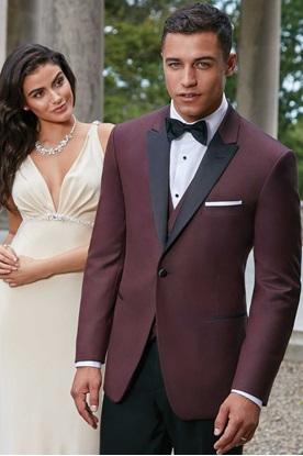 Burgundy Marbella Ike Behar Tuxedo