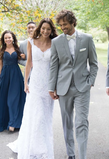 Light Grey Wedding Suit Hamilton