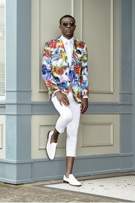 Hendrix Abstract Multi Colored Prom Coat Rental