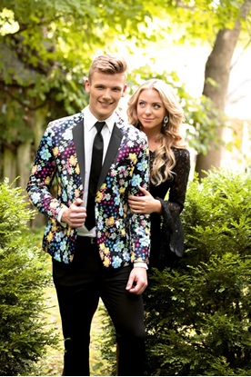 Marley Floral Print Prom Coat Rental