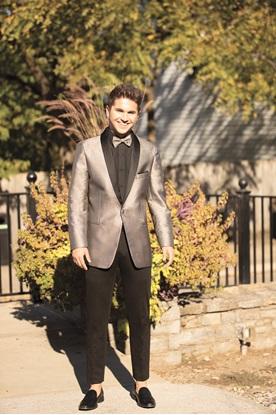 Stone Starlight Lame' Tuxedo Prom Rental