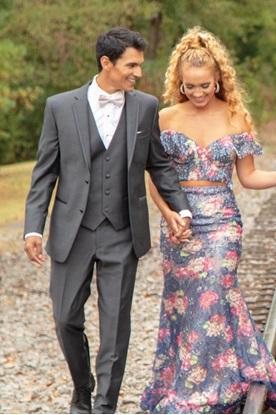 Kenneth Cole Steel Grey Tuxedo Prom Rental