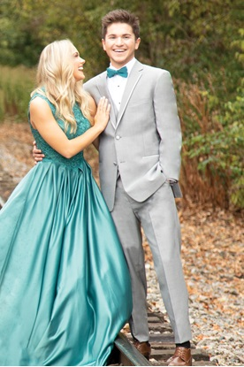 Kenneth Cole Heather Grey Prom Tuxedo