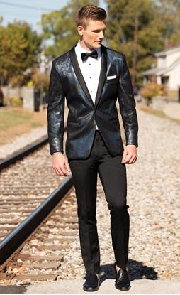 Dylan Dragon Scale Faux Suede Tuxedo Prom Rental