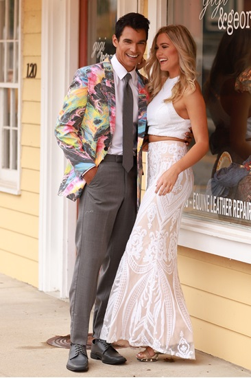 Garcia Abstract Print Coat, Fun Wedding Reception Coats, Fun Coats