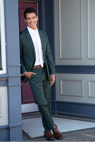 Hunter Green Wedding Suit Rental